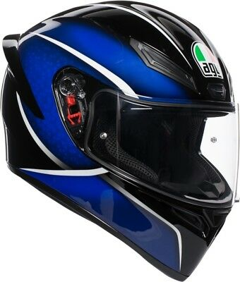 Casco Integrale Agv K1 K-1 Multi Qualify Black - Blue Taglia Xl
