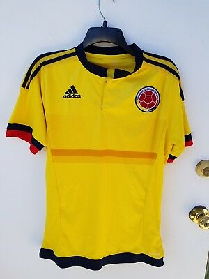 new concept 7dca4 38895 MENS ADIDAS COLOMBIA National Soccer Team Jersey Sz Medium Yellow Pre Owned