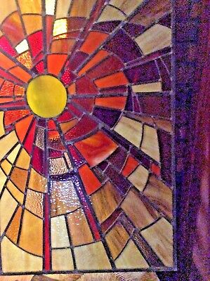 Stained glass window from 1970's