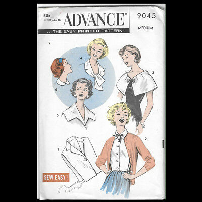 Vintage Advance Pattern 9045 Misses' Collars and Dickeys