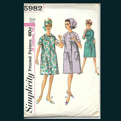 Vintage Simplicity Pattern 5982 Misses' Robe or Duster & Scarf Size Small 10-12