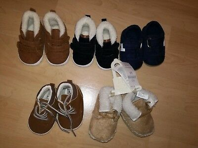 Baby Boy Winter Shoes Booties bundle Brand New 0-3 And 3-6 Months
