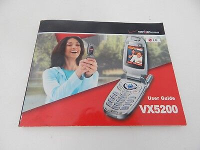 VX5200 Cell Phone User's Guide Manual Verizon Wireless LG