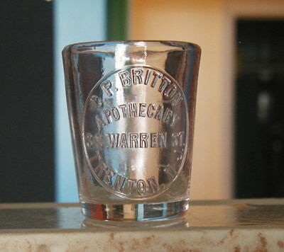 Druggist Or Pharmacy Dose Glass Cup Trenton New Jersey Nj