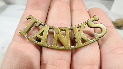 WWI Royal Tanks Cap Badge British Army Military Corps