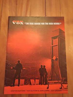 1969 VOX Catalog RARE Guitars, amps and organs the beatles