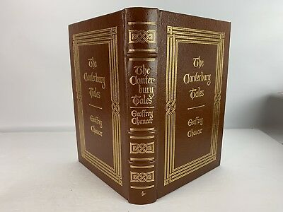 Easton Press The Canterbury Tales By Geoffrey Chauncer Leather Bound HC Book NR