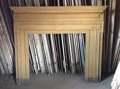 Early Pennsylvania Fireplace Mantel Mantle Original Yellow Paint