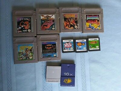 Lot Of 6 Original Gameboy Games And Extras