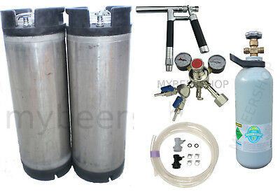 Pluto Ball Lock Kegging Kit Premium Regulator & Co2 Home Brew Beer Keg Kegerator