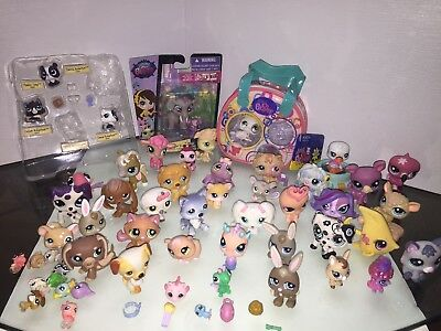 Littlest Pet Shop rare Lot Of 54 Animals bird Cat Dog Mix Years LPS Must See!!