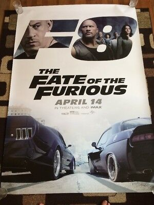 The Fate Of The Furious Original 4'X6' Bus Shelter Movie Poster DS 2017
