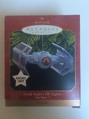 Star Wars: Darth Vader's TIE Fighter Ornament Hallmark Keepsake 1999