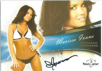 2013 Bench Warmer Bubble Gum Marissa Ivana Authentic Autograph Card #66