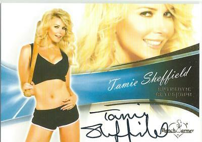 2013 Bench Warmer Bubble Gum Tamie Sheffield Authentic Autograph Card #68