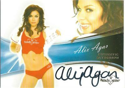 2013 Bench Warmer Bubble Gum Alix Agar Authentic Autograph Card #72