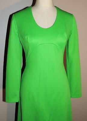 Vintage 60s Groovy Maxi Dress Just for Fun VGC  Back Metal Zip  Green S/M