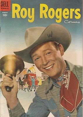 1955 No. 85 Roy Rogers Comics Western Cowboy Dell 10 ct Golden Age Comic Book