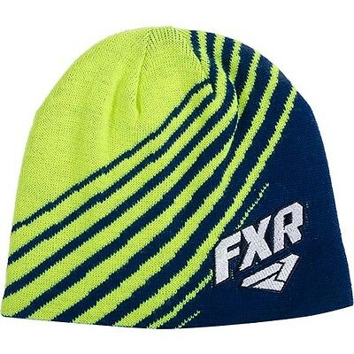 Fxr Premium Beanie Cap Hat- Navy-Hi Vis Shorty  - New With Tags