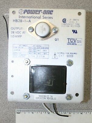 Power One International Series HB28-1-A Output 28 VDC at 1 Amp Power Supply