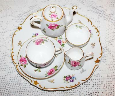 Crown Staffordshire 5 Piece Breakfast Set for One c1906 Rare Plus Plate