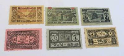 Lebanon 1928 - 31 Postage Due small collection unused