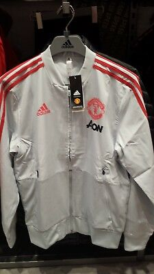 0179410f2 Adidas Manchester United 2018-19 Men Football Soccer PRESENTATION JACKET  DP6833