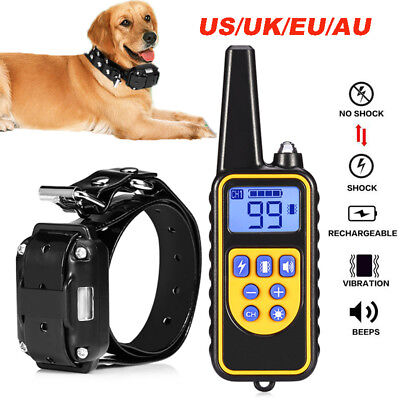 800m Electric Remote Control Dog Training Shock Collar Anti Bark Rechargeable US