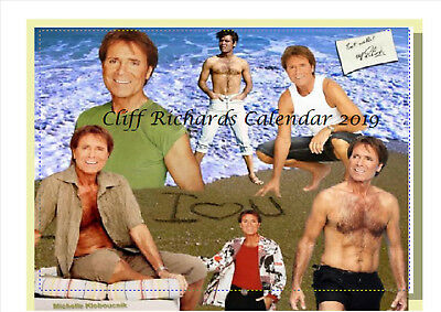 Cliff Richard Autographed Calendar 2019 Desktop A5