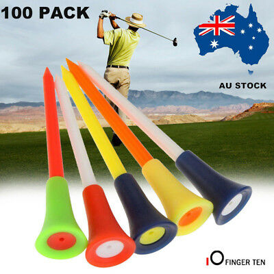 Plastic Golf Tees With Rubber Cushion Top 100 X 83mm High Quality Multi Color AU