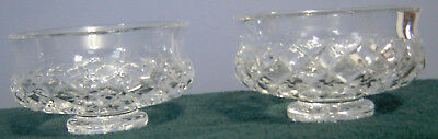 Set of (2) Waterford Crystal Alana 5-inch Footed Pedestal Bowls Made in Ireland
