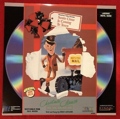 Santa Claus is Coming to Town Laserdisc Rankin Bass Christmas Holiday Vintage