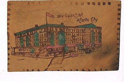 ANTIQUE LEATHER Postcard     NEW GALEN HOTEL  -  ATLANTIC CITY, NJ