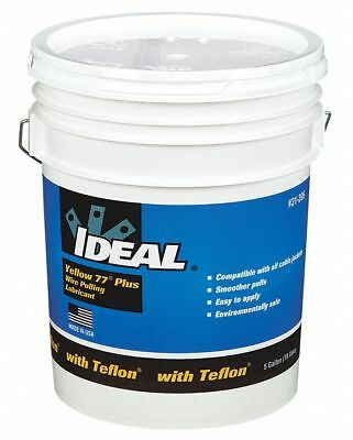 Ideal Cable and Wire Pulling Lubricant, 5 gal. Pail, Water Chemical Base, Yellow