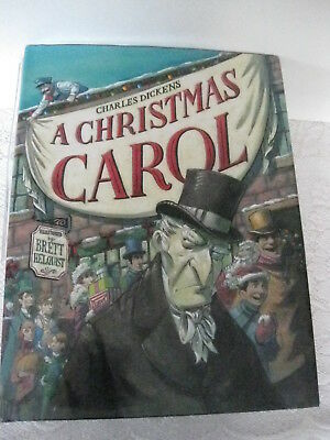 Charles Dickens A Christmas Carol Illustrated by Brett Helquist, HC, NEW, #CG