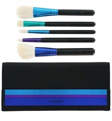 MAC ENCHANTED EVE 5 Piece Brush Set & Bag New in Box 168 133 221 239 219