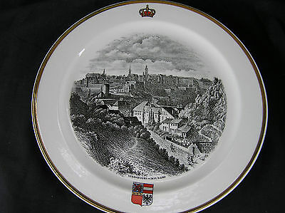 """Villeroy & Boch Septfontaines Plate of Luxembourg in 1835, 9.5"""""""