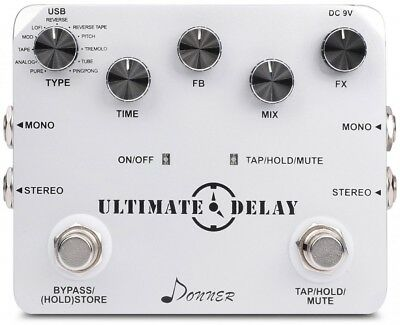Guitar Effect Pedal Donner Ultimate Delay