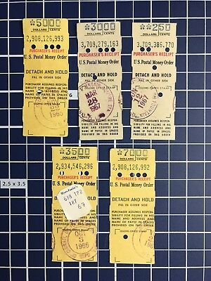 Vintage LOT of U.S. Post Office Money Order Receipts