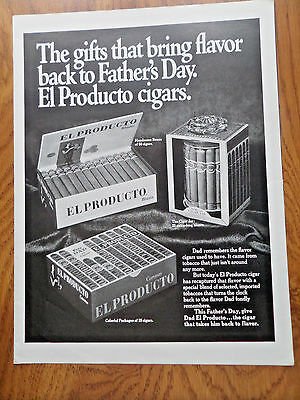 1968 El Producto Cigars Ad  Father's Day Gifts