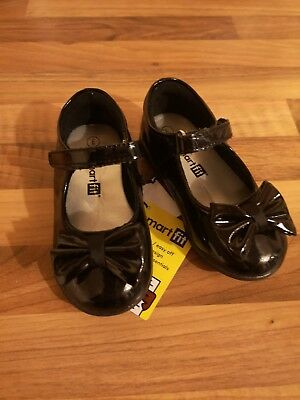 Girls Black Bow Patent Toddler Shoes Size 5 (US6) EU22
