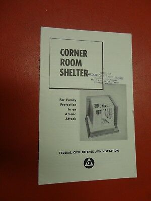 Original Civil Defense Booklet Protection in an Atomic Attack Corner Shelter
