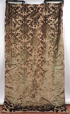 Victorian 19Th C Cut Velvet Curtain Portiere Panel W Velvet Backing