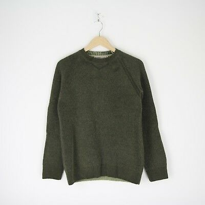 b4cec3a4f2cf Vintage Mens Nigel Cabourn Utility Lambswool Pullover Sweater Jumper M Army  3331