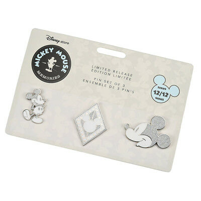 Mickey Mouse Memories Pin Set #12 December Limited Edition Disney Store Japan