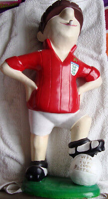 Andy Capp - Large Model Figure - Dressed As Footballer - Composite - 70 cm Tall