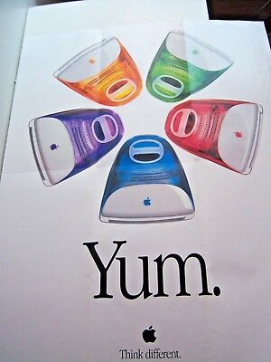 iyum apple macintosh think different icandy computer poster 1990s 2000s