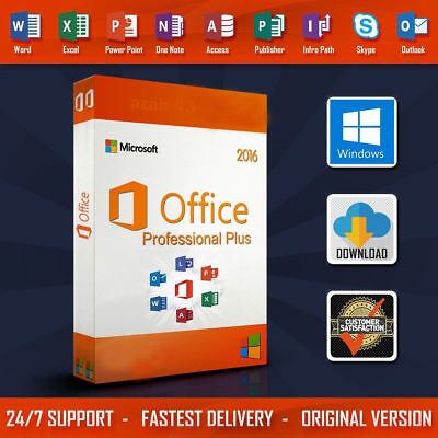 Microsoft MS Office 2016 Professional Plus Product Key 1 PC Install