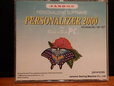 Janome Software - Personalizer 2000 for Scan 'n Sew PC, plus ScanSoft PC