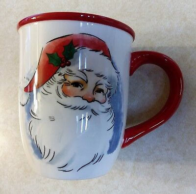 "KOHL'S Christmas Traditions Santa Claus 4 1/2"" Tall Holiday Coffee Mug"